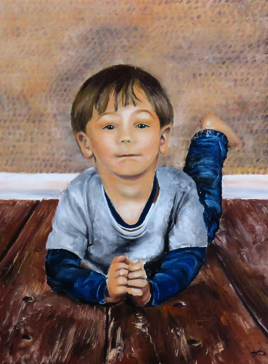 Aron (portrait) oil painting