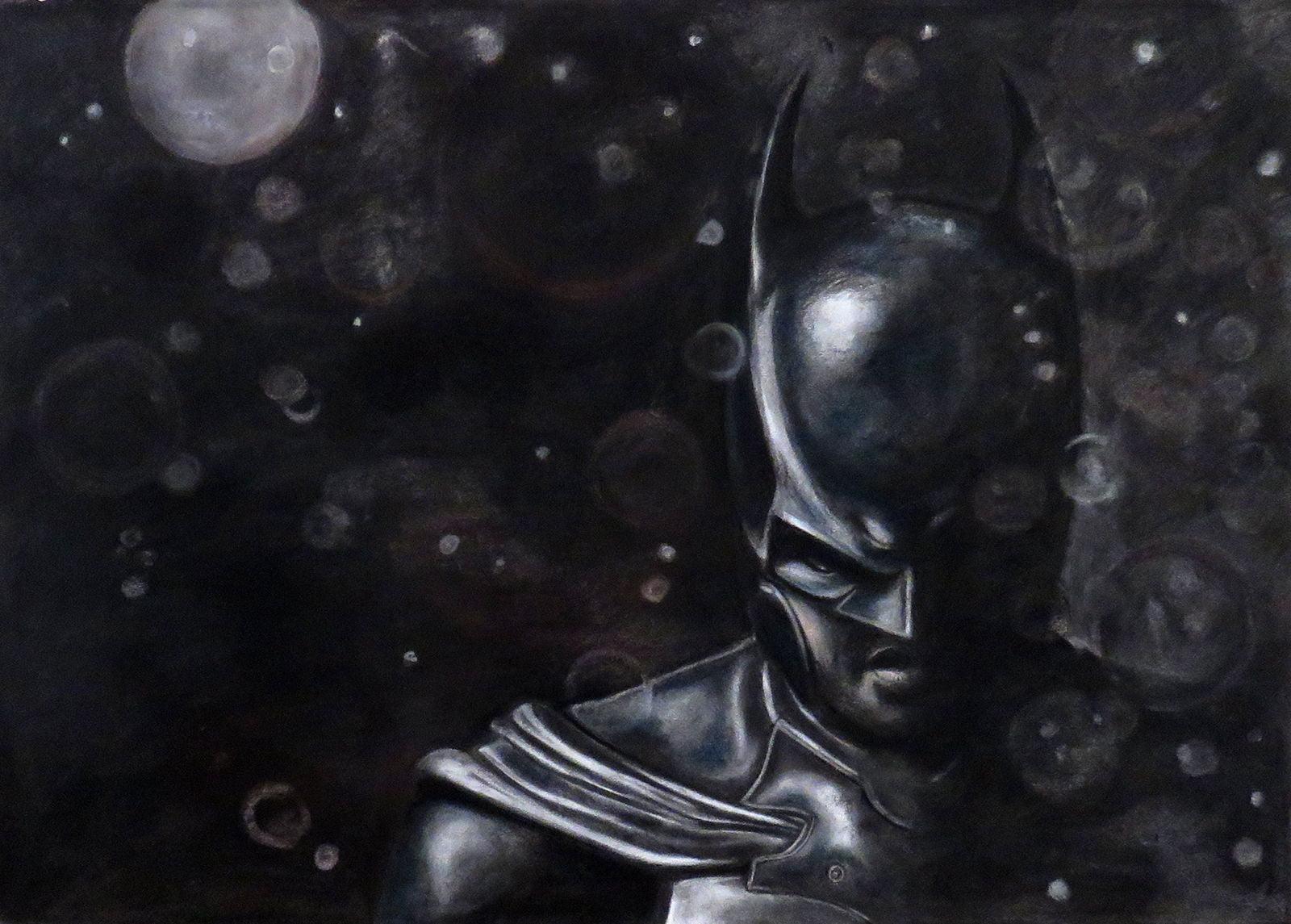Batman charcoal drawing
