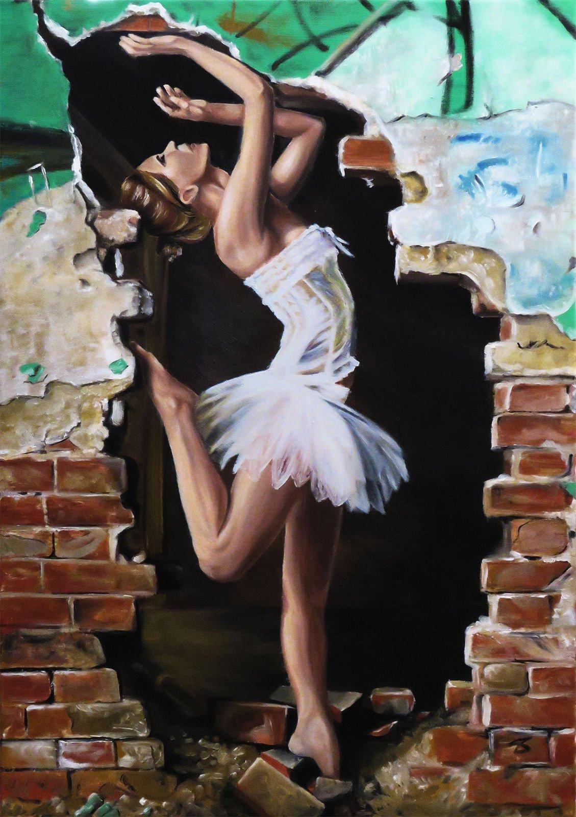Fanny ballerina oil painting on canvas