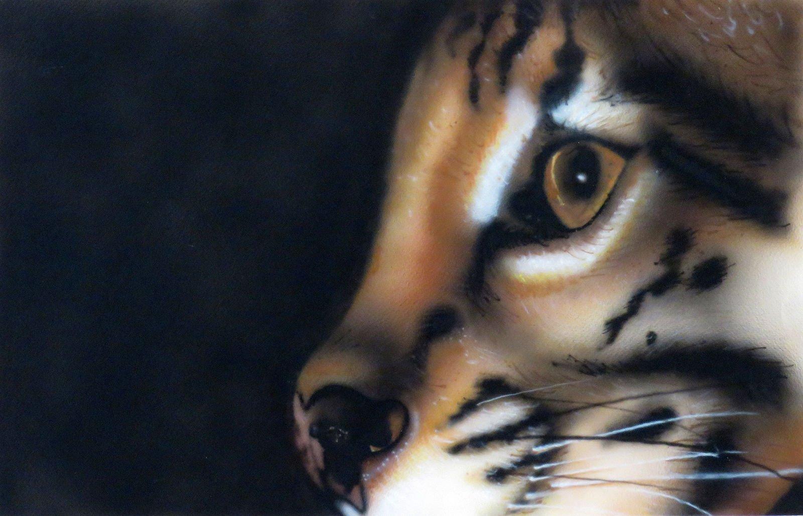 Ocelot airbrush painting