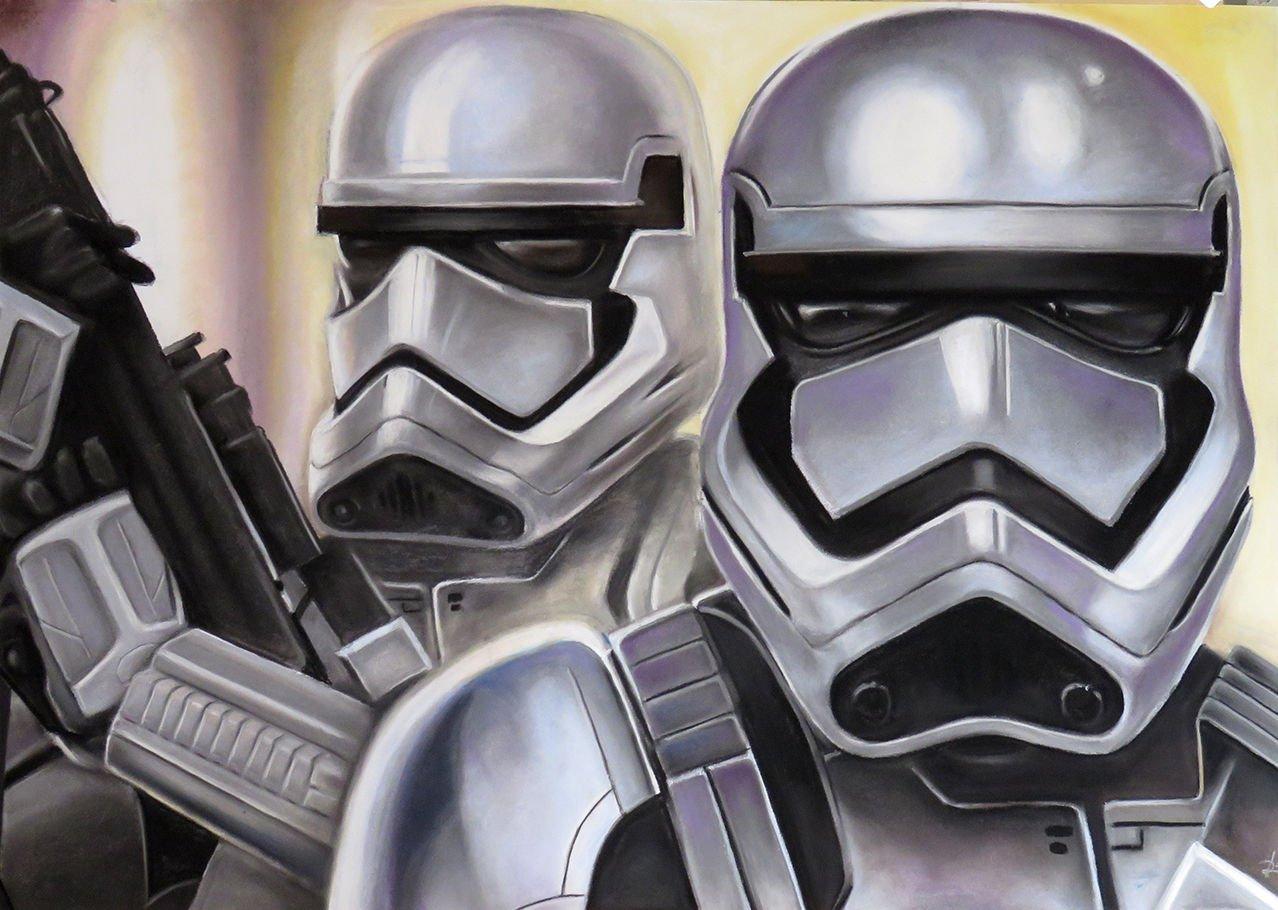 Stormtrooper pastel pencil drawing